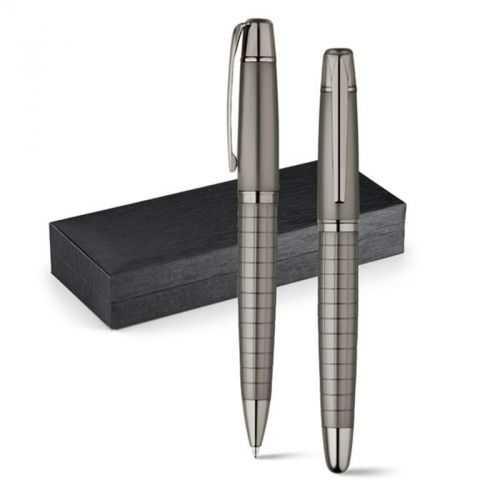 Set stylo roller et stylo à bille grun métal WARHOL