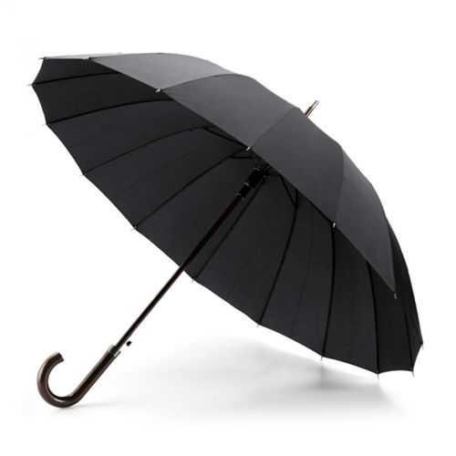 Parapluie noir 16 baleines