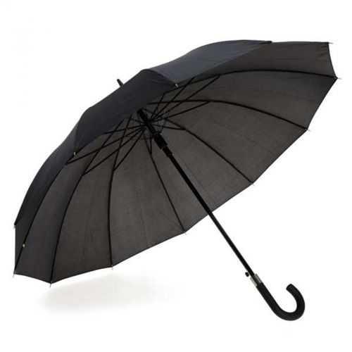 Parapluie noir 12 baleines
