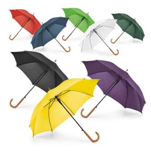 Parapluie avec poignée en blanc