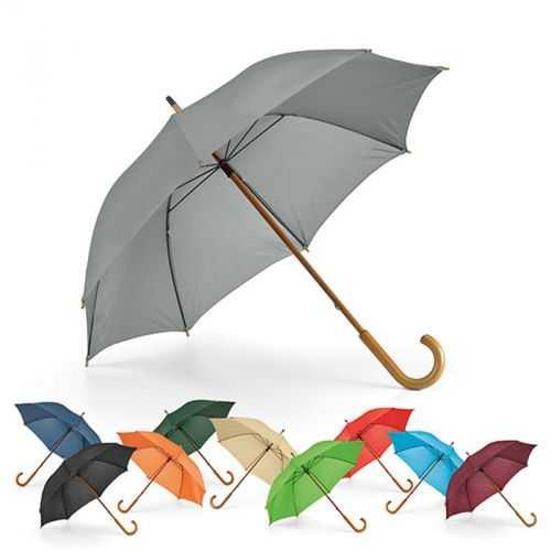 Parapluie manuel manche et poignée en bois