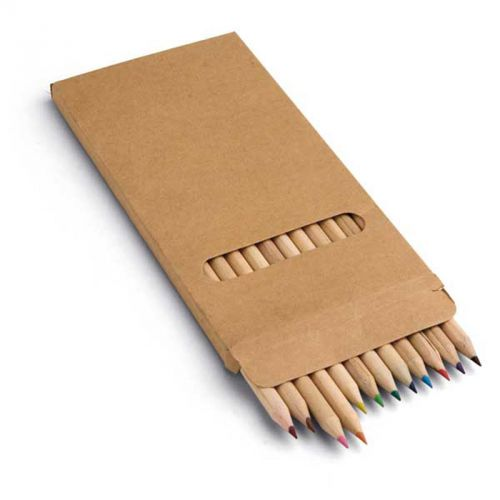 Boîte en carton 12 crayons de couleur
