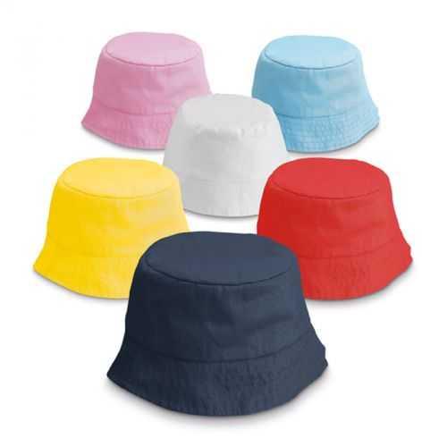 Bob personnalisé en polyester pour enfant bleu, rouge, blanc, jaune, rose, bleu clair, 160 g/m²