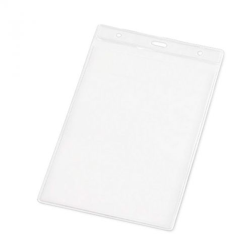 Porte badges PVC transparent rectangle