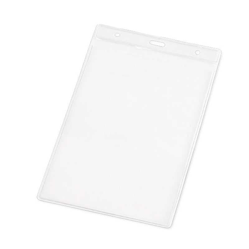 Porte badges PVC transparent rectangle personnalisé