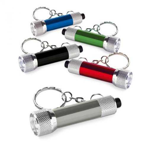 Porte-clés aluminium avec lampe 3 LEDS