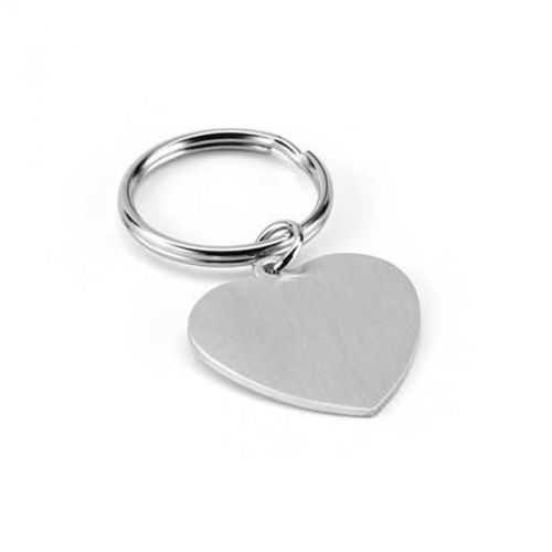 Porte-clés aluminium coeur