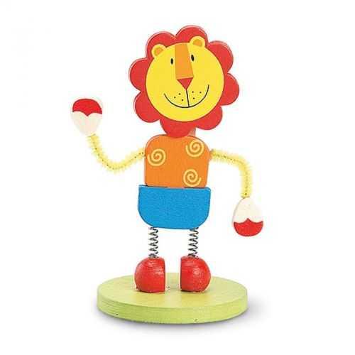 Clip mémo lion en bois