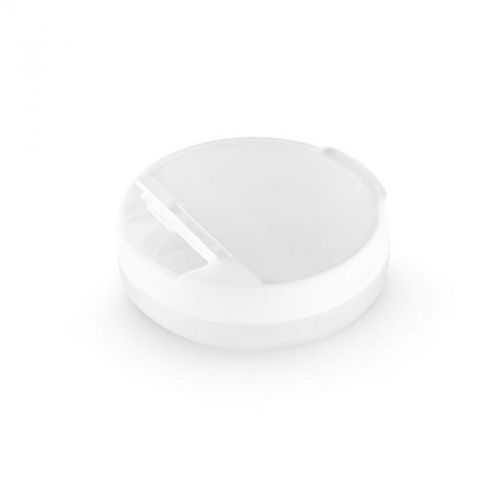 Pilulier 4 compartiments blanc avec couvercle pivotant