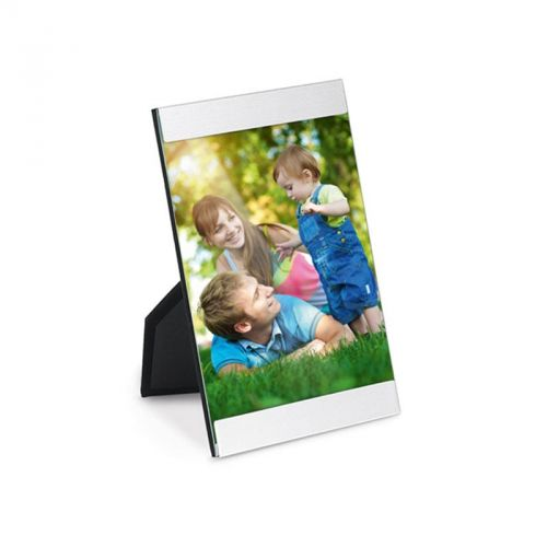 Cadre photo rectangle en aluminium