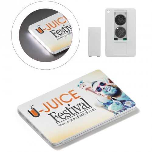Lampe de poche carte de crédit personnalisée