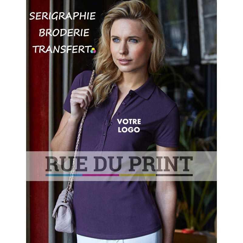 Polo publicité femme Luxury Stretch 95% coton ringspun, 5% élasthanne, 215 g/m²