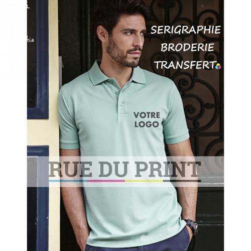 Luxury Stretch Polo publicité 95% coton ringpsun, 5% élasthanne, 215 g/m²