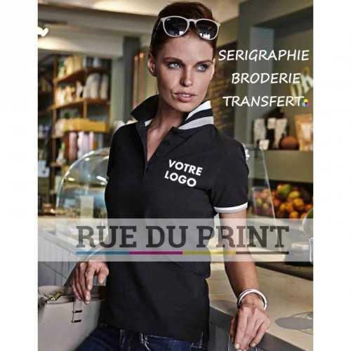 Polo publicité femme Club 100% coton peigné ringspun (piqué), 215 g/m²