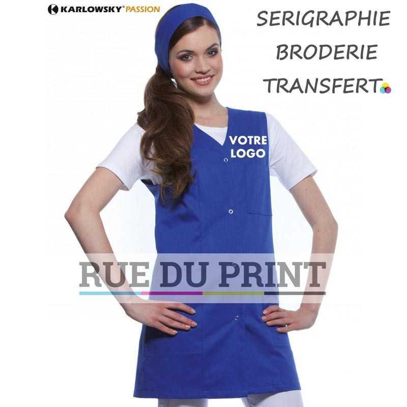 Tablier publicitaire bleu Sara