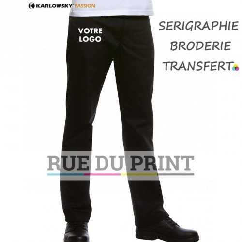 Pantalon Manolo personnalisable Black Boucles de ceinture 65% polyester, 35% coton 5 poches 245 g/m²