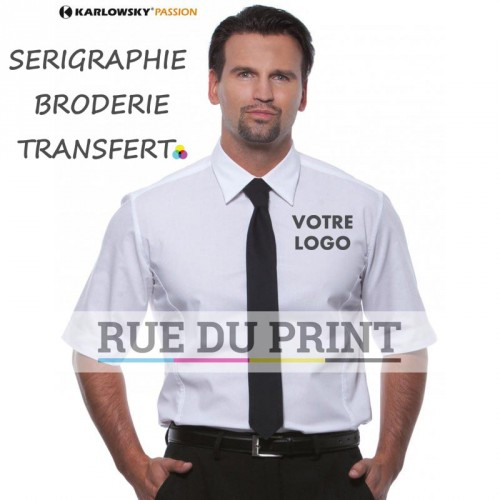 Chemise personnalisée Nick Slim Black / White Nick Slim 125 g/m² 49% polyester, 49% coton, 2% élastoléfine