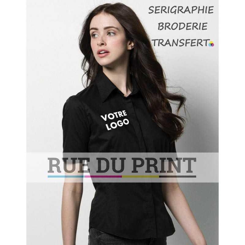 Chemise publicité avec logo Bargear™ Bar femme 120 g/m2 57% coton, 40% polyester, 3% lycra