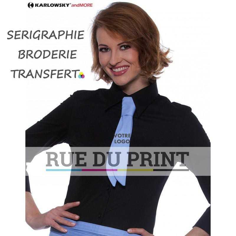 Cravate publicitaire bleu clair Service