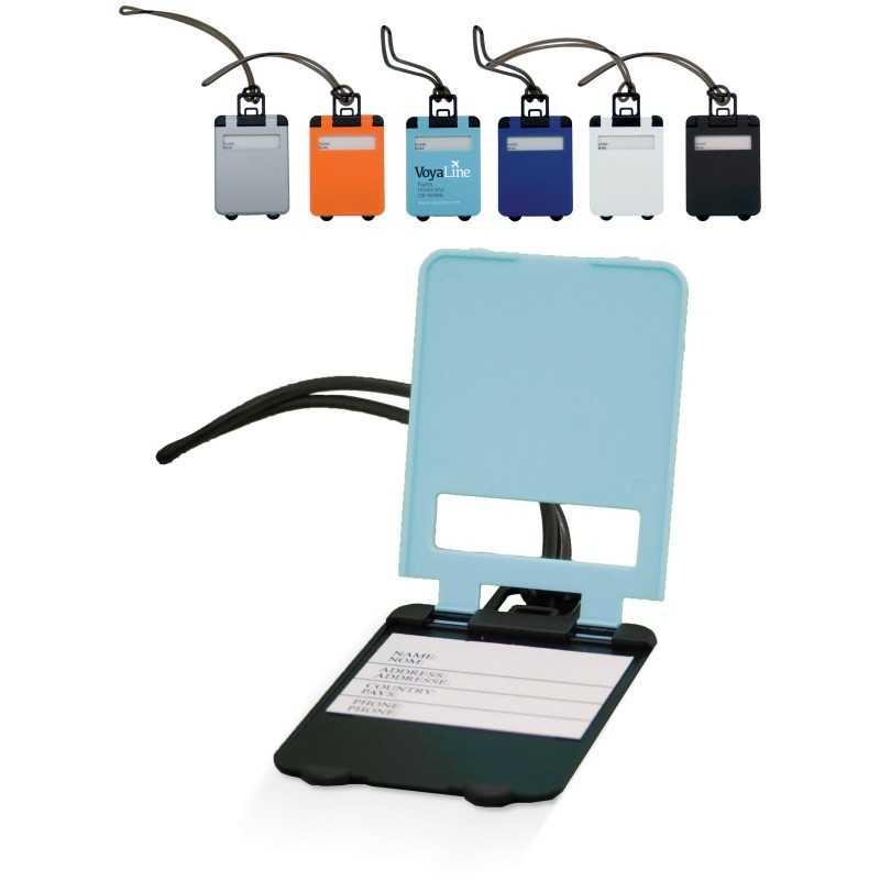 Etiquette personnalisable à bagage couleur