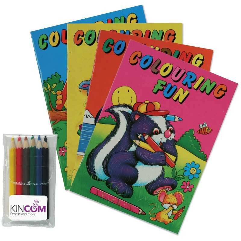 Le mini set de coloriage de nos produits crayons personnalis s personnalis s - Set de bureau personnalise ...