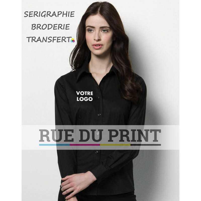 Chemise publicité avec logo Bargear™ Bar femme 57% coton, 40% polyester, 3% lycra, 120 g/m2