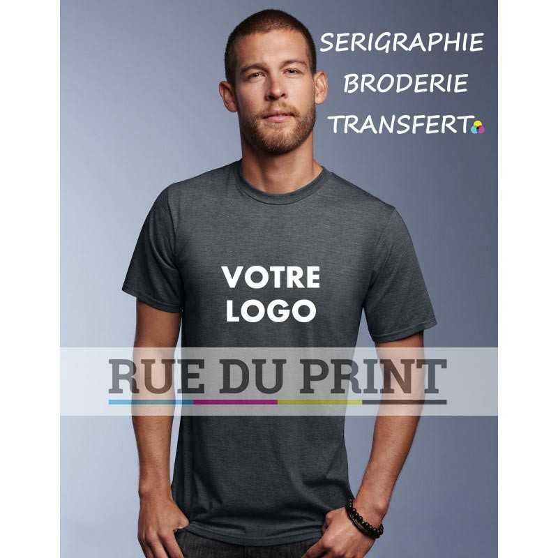 AnvilSustainable™ publicité gris charbon profil Tee-shirt 50% coton (organique et ringspun), 50% polyester ( recyclé P.E.T.) pré