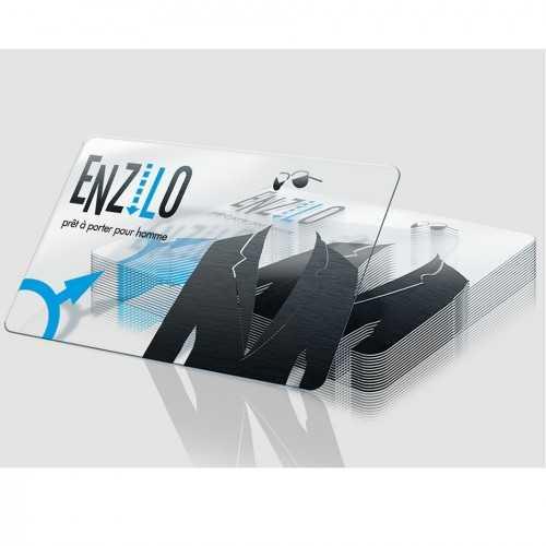 Cartes publicitaires transparentes ENZILO