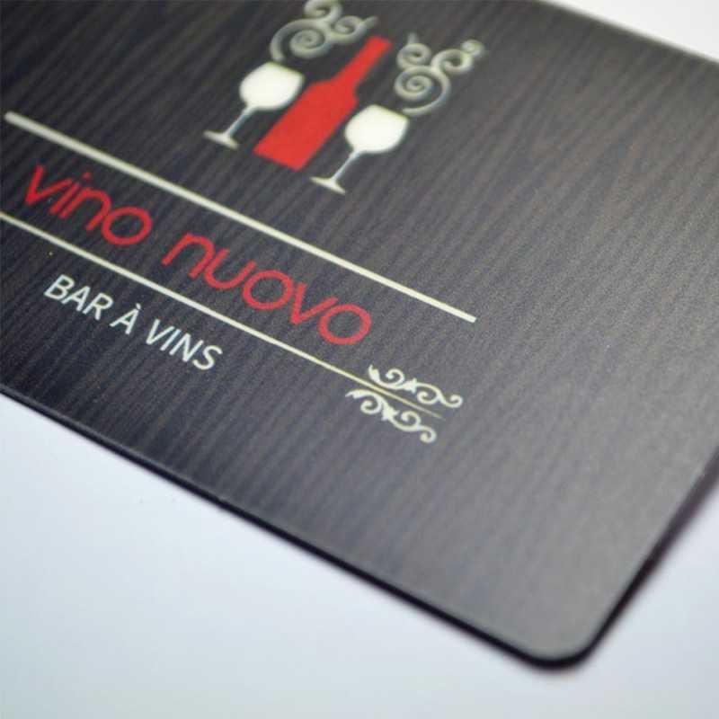 Cartes publicitaires mates noir