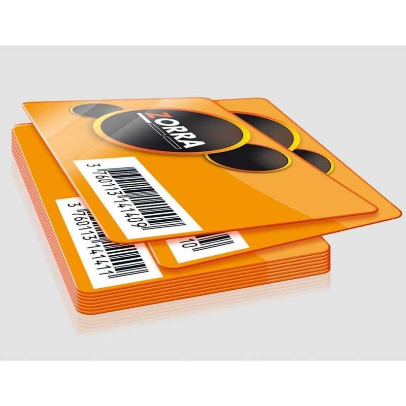 Cartes codes-barres personnalisée