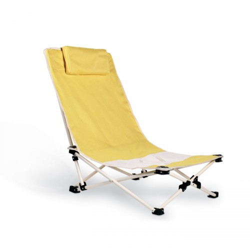 Chaise de plage avec coussin CAPRI