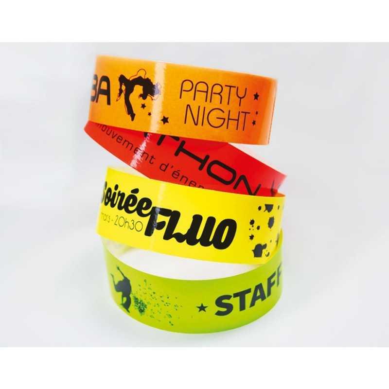 Bracelets de contrôle fluos personnalisé couleur