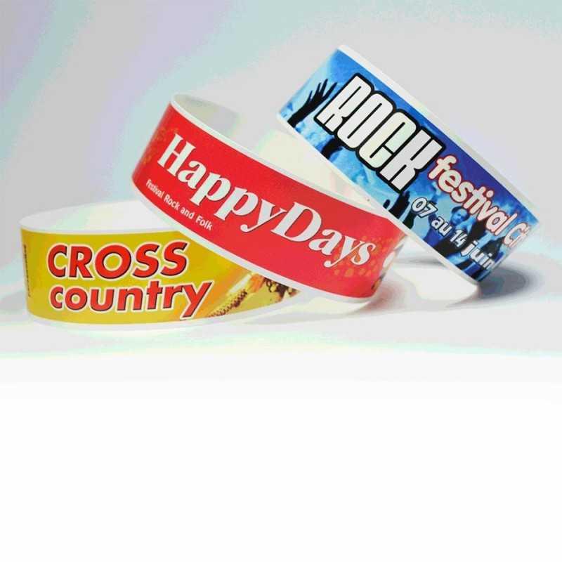 Bracelets de contrôle personnalisés couleur