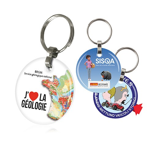 Porte-clefs 2 DOMING rond