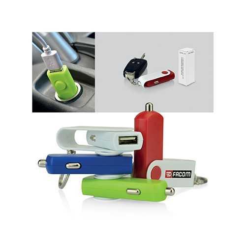 Porte-clefs/chargeur de voiture