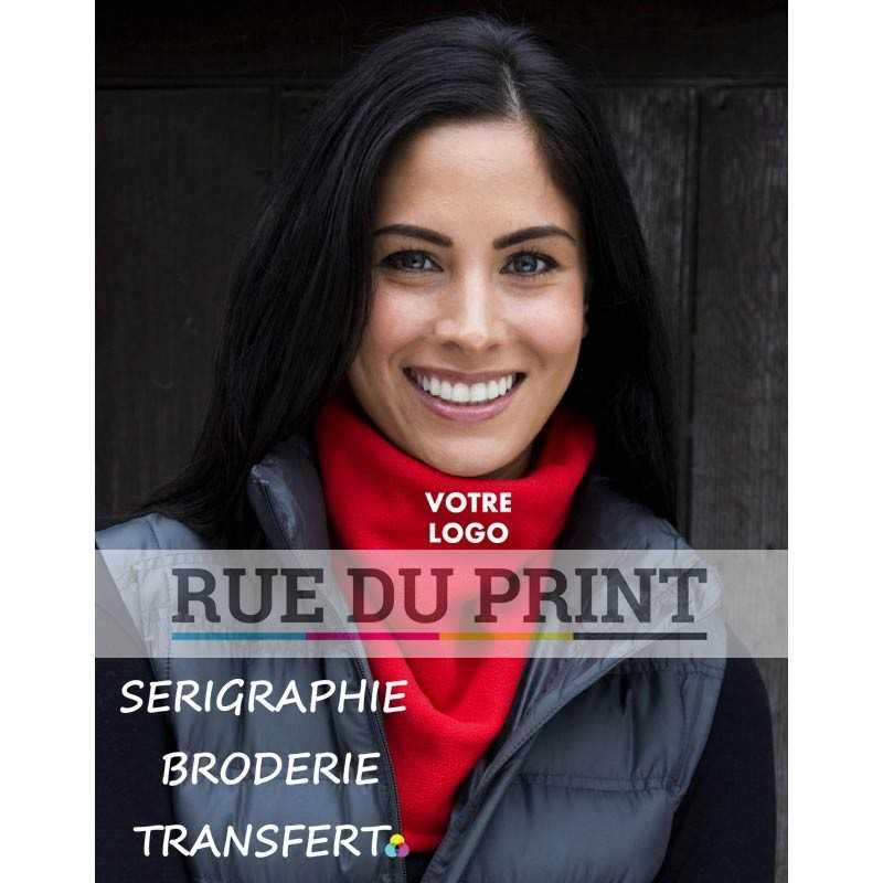 Echarpe publicité tour de cou bandit Ext: 100% acrylique, Doublure: 100% polyester microfleece Extérieur tricot en jauge 9
