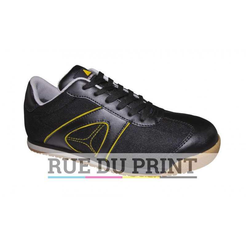 Chaussures publicités Sport Ext: 100 % daim (Black:cuir avec insertion filet) Int: 100% polyester semelle intérieure amovible: