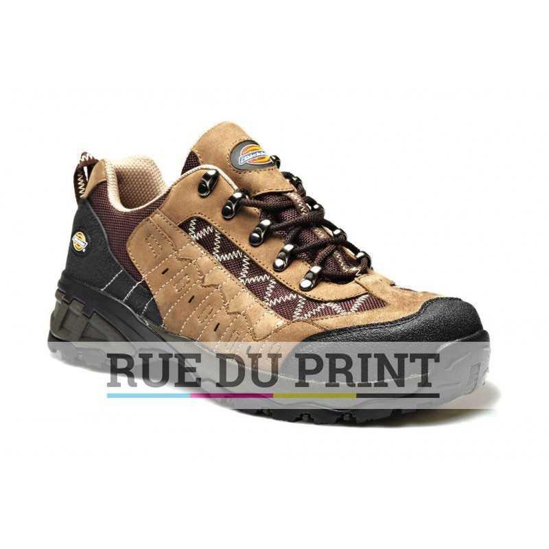 Chaussures publicités de sécurité Gironde Ext: cuir nubuck, filet nylon bord et languette rembourrées bouts composite répondan