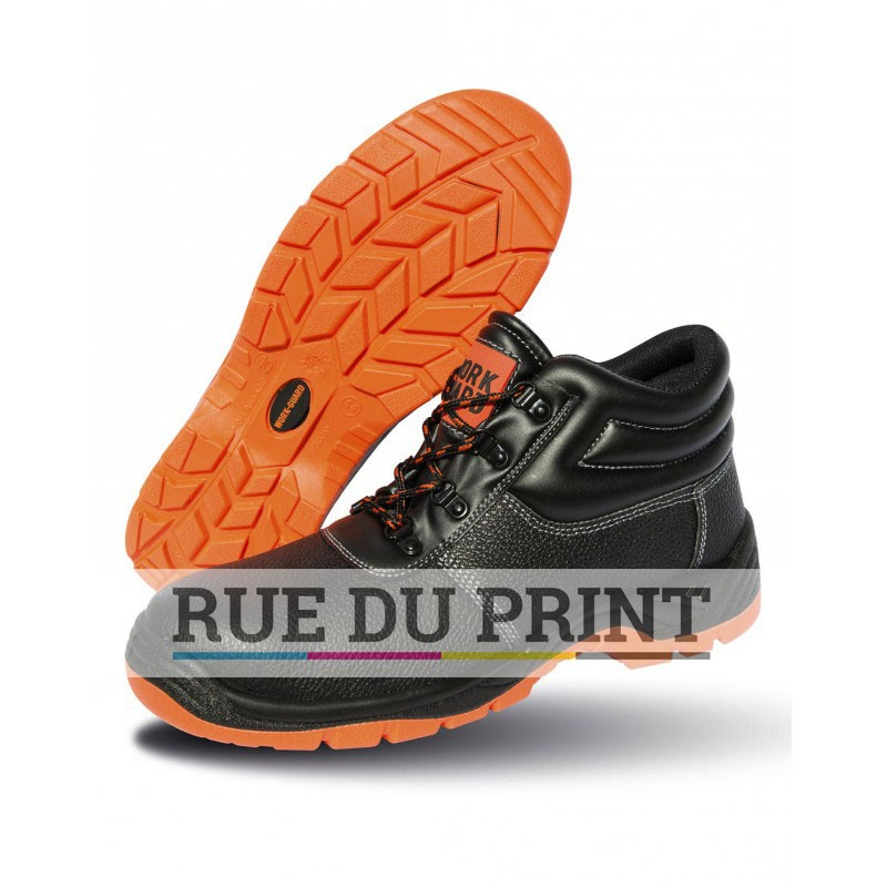 Chaussures publicités de sécurité Tige: cuir Col rembourré Doublure en maille noir à l intérieur de la cheville Oeillets noir