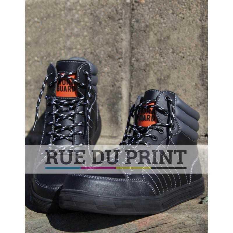 Chaussures publicités de sécurité Stealth Tige: microfibre Col: polyuréthane Doublure filet Oeillets noirs