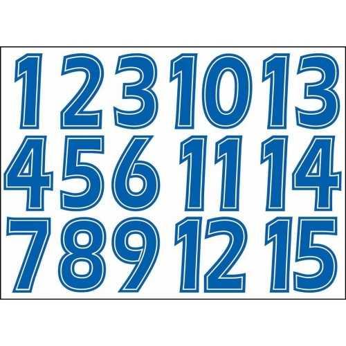 Numéros en transferts textile
