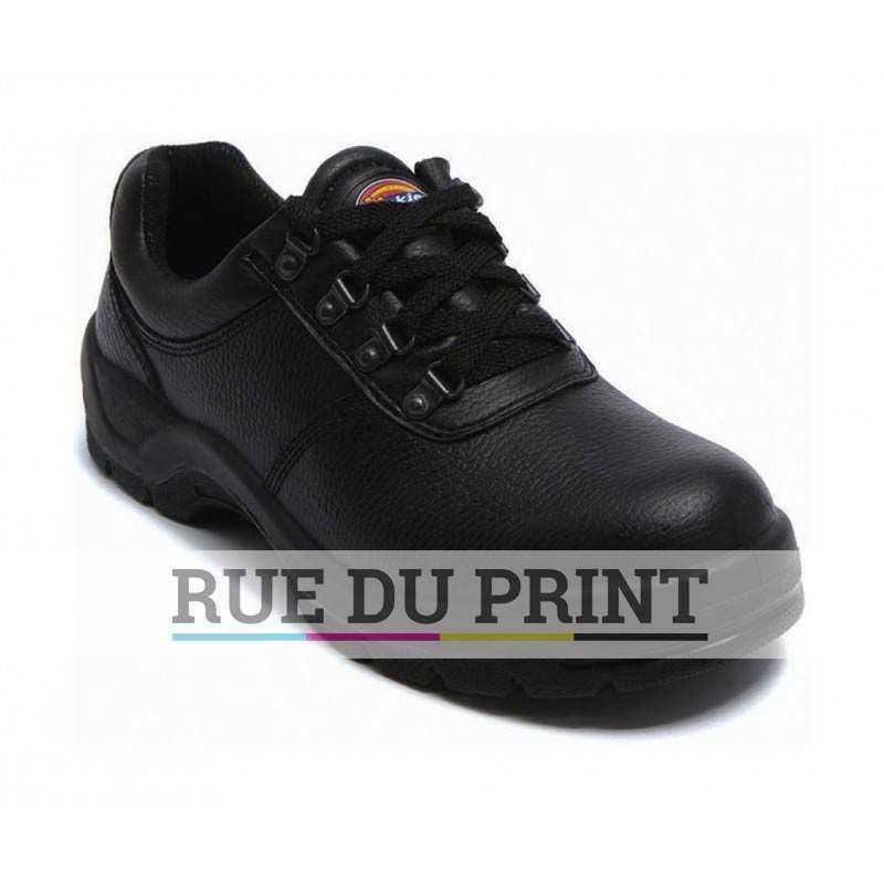 Dickies publicité Clifton Super Safety Shoe dessus: 100% cuir (buffle), semelle: 100% polyuréthane, intérieur: 100% nylon