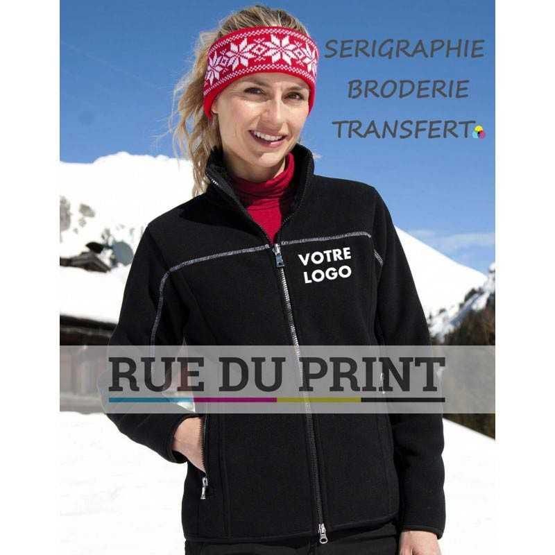 Polaire publicité femme Huggy Ext: 100% polyester (micofleece), 400 g/m² int: 100% polyester (polaire)