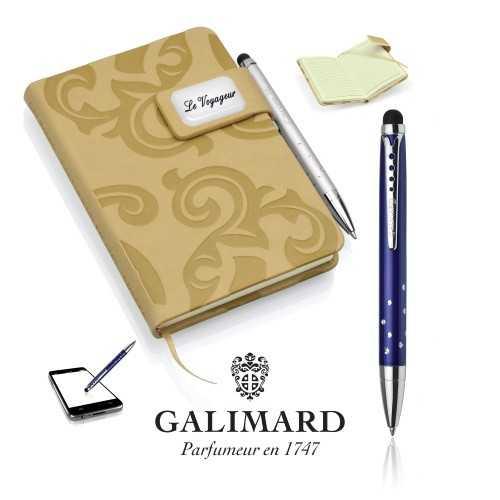 Set bloc-notes GRACE beige/stylo à bille touch STAR de GALIMARD
