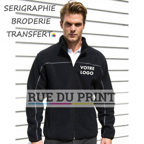 Polaire publicité Huggy Ext: 100% polyester (micofleece), 400 g/m² int: 100% polyester (polaire)