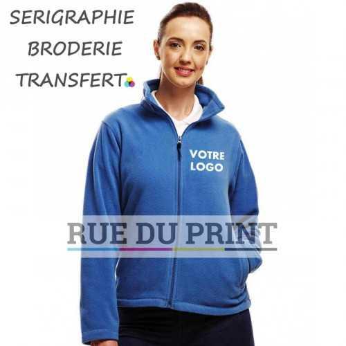 Polaire publicité Micro Full Zip Fleece femme 100% polyester (microfleece série 210) léger