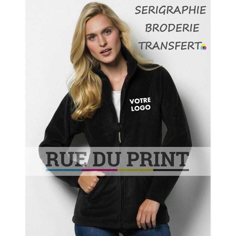Polaire publicité Full Zip Active femme 100% polyester (polaire anti-peluche), 300 g/m² manches set-in