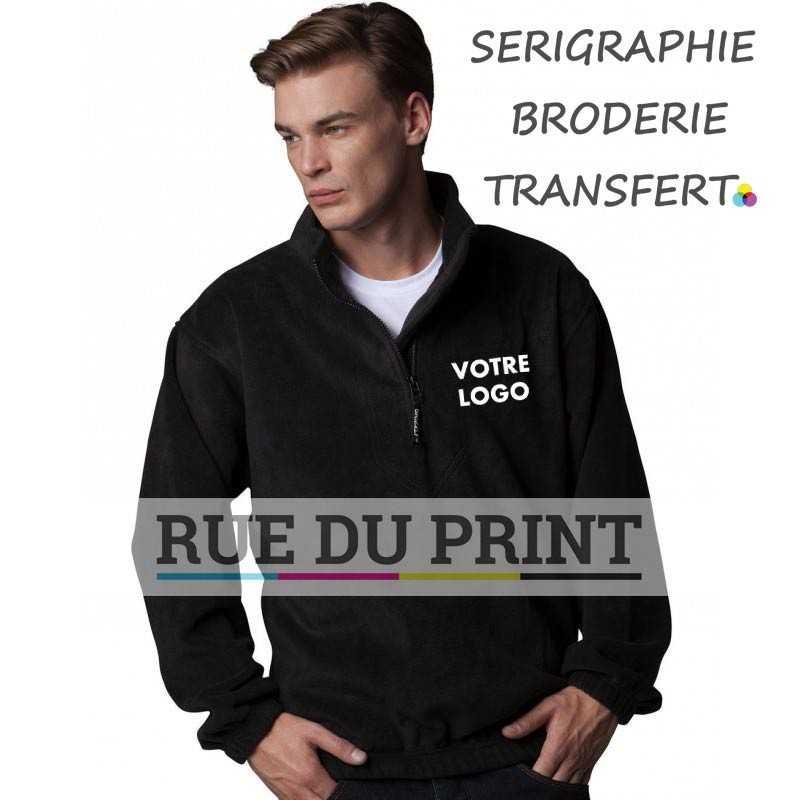 Polaire publicité Half Zip Active 100% polyester (polaire anti-peluche), 300 g/m² manches set-in