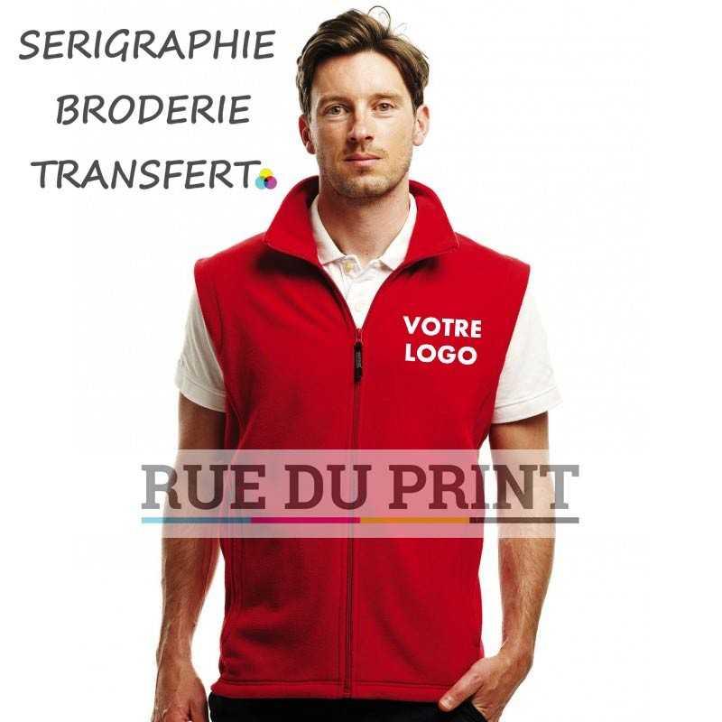 """Bodywarmer publicité Mirco 100% polyester polaire """"série 210"""" anti-peluches léger, fermeture à glissière"""