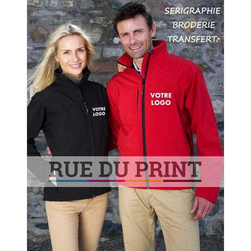 Veste publicité femme Classique Softshell Ext: 93% polyester, 7% élasthanne, 320g/m2 Couche intermédiaire: membrane respirante
